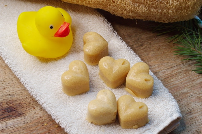 Sugar Scrub Cubes and a rubber duck
