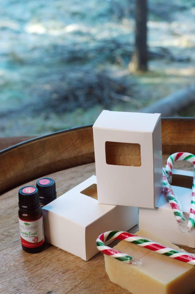 This candy cane soap recipe has the delightful scent of the holiday season.