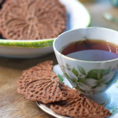 Gluten Free Chocolate Pizzelle Cookies for a Sweet, Light Finish