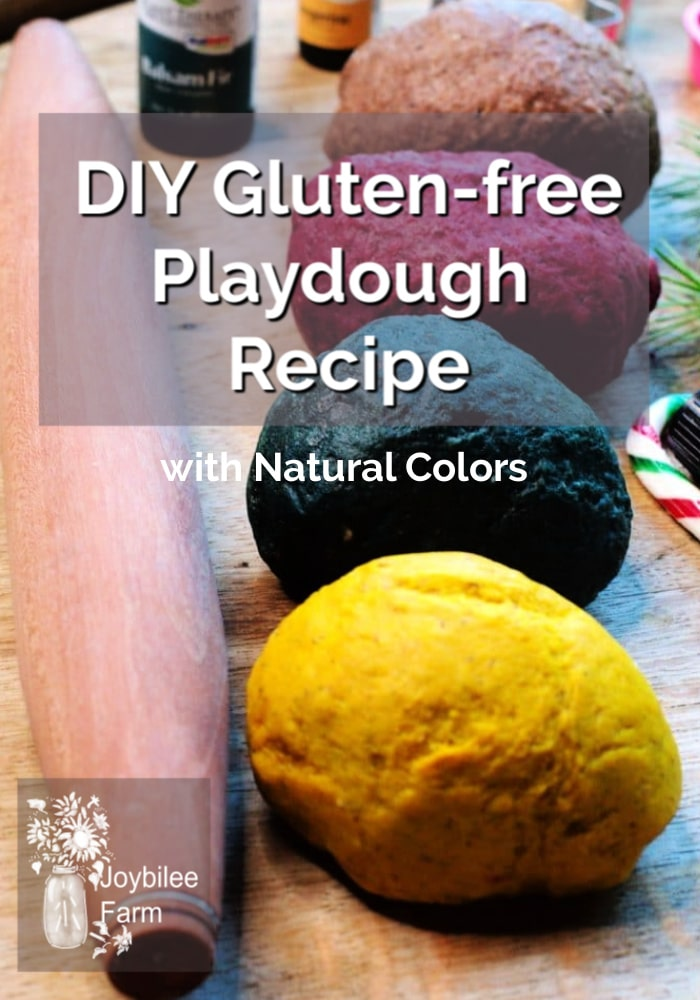 gluten free playdough on a table with a rolling pin