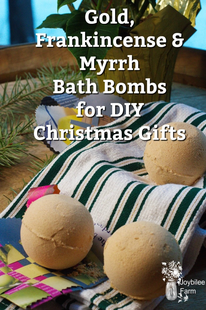 Gold Frankincense And Myrrh Bath Bombs For Your Diy Christmas