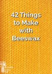beeswax honeycomb sheet with the text 42 things to make with beeswax