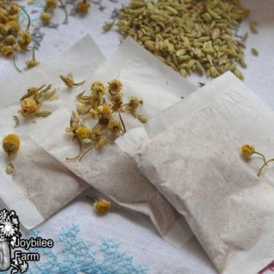 tea bags of chamomile and fennel