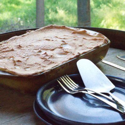 Gluten Free Peach Dessert that's Creamy and Rich
