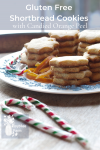 Plate of shortbread cookies and two candy canes